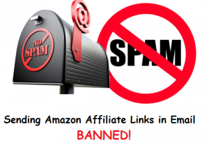 amazon affiliate links in emails will be banned