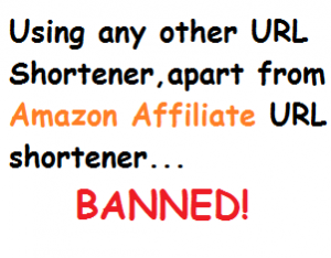 only amazon url shortener others banned