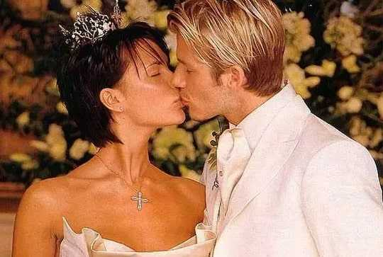 Wedding pics of David Beckham and Posh Spice
