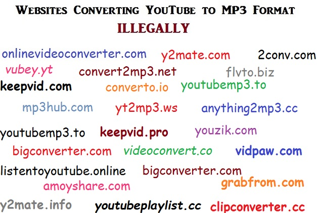 Youtube to mp3 conversion is totally illegal
