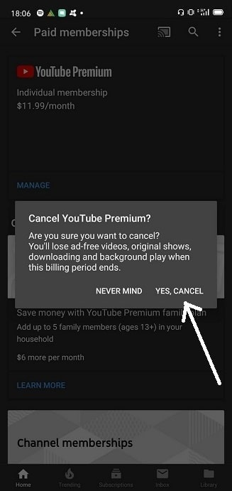How to get a refund for a YouTube Premium account